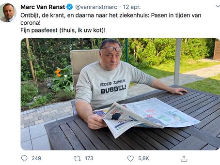 Marc Van Ranst ruilt zijn V-halsje in voor een Kletskop outfit
