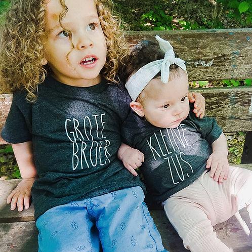 T-shirt Kleine / grote Zus / broer