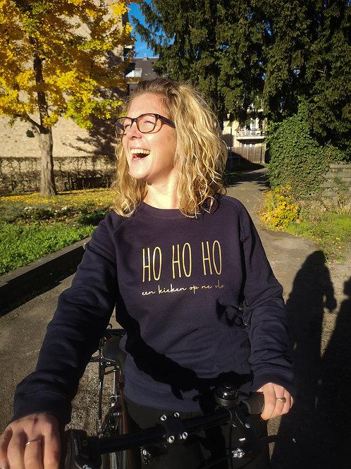 HOHOHO een kieken op ne vlo - sweater Navy Gold