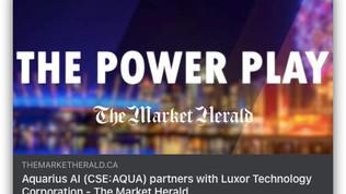 The Market Herald: Aquarius AI (CSE:AQUA) partners with Luxor Technology Corporation