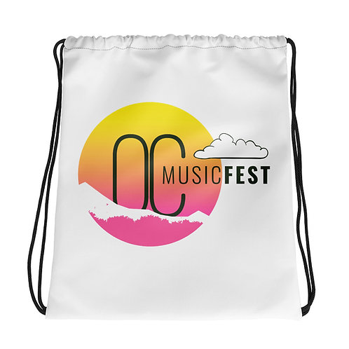 OC Music Fest Logo Drawstring Bag