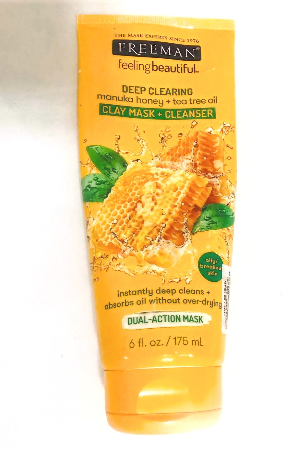 DEEP CLEARING manuka honey + tea tree oil CLAY MASK + CLEANSER