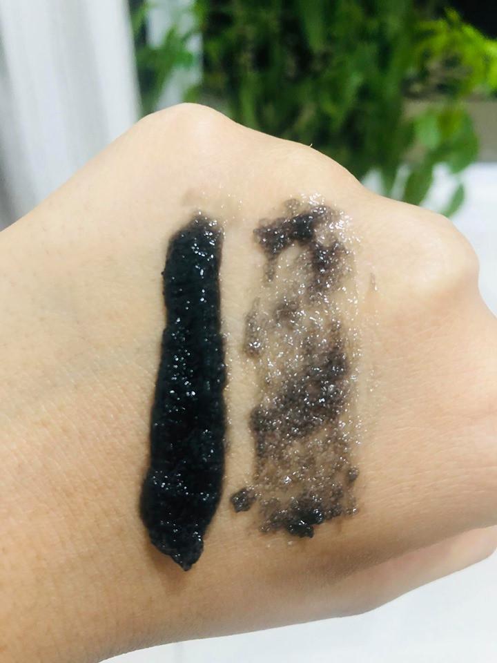 POLISHING charcoal + black sugar GEL MASK + SCRUB