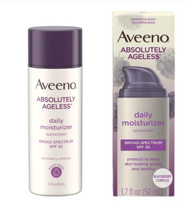 Aveeno ABSOLUTELY AGELESS Daily Face Moisturizer With Sunscreen, SPF 30