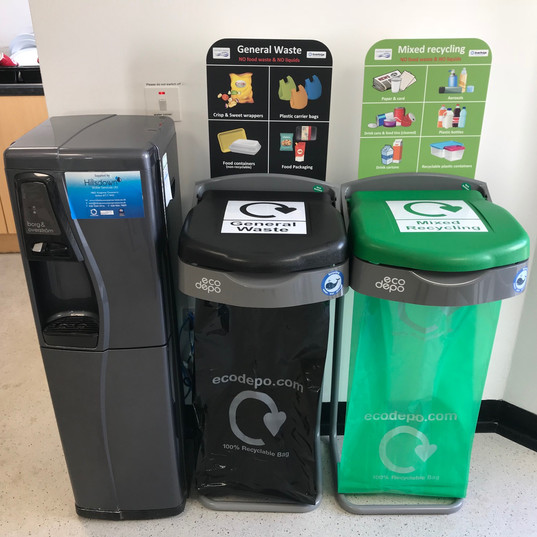 Kitchen Recycling Station | Paper Recycling |Office bins | Food Waste | EcoDepo
