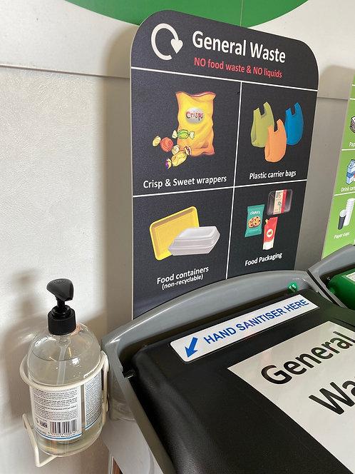 Hand sanitiser gel 500ml & bracket