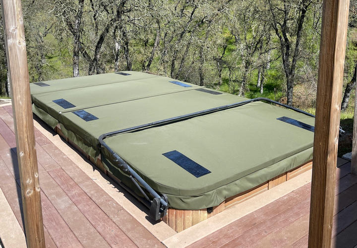 DuraCore Solar swim spa cover in Valley Springs, California.