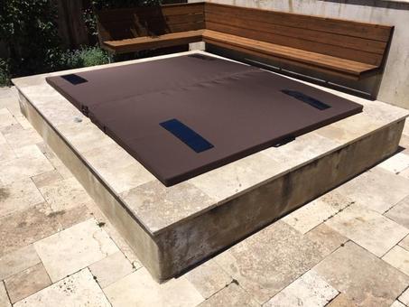 DuraCore Solar on in ground spa in Palo Alto, California.