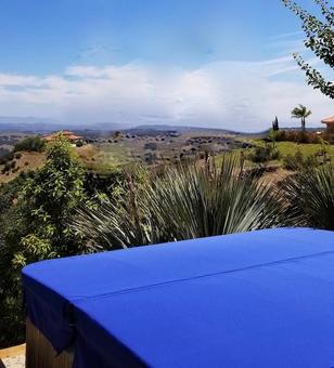 Royal blue DuraCore Plus in Murrieta, California.