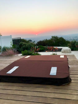 Deck mounted DuraCore Solar with body mounted panels.