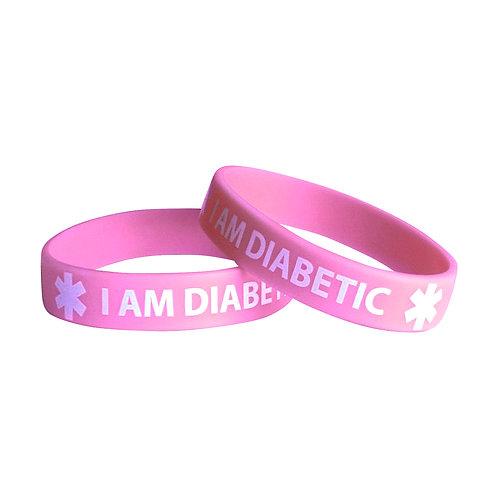 Браслет диабетика силиконовый С065