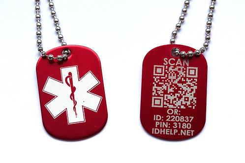 Медицинский ID кулон с цепочкой УКР