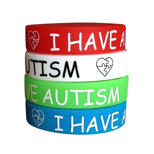 Браслет для хворих з розладами аутистичного спектру силіконовий I HAVE AUTISM