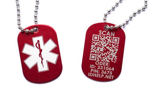 Медицинский ID кулон с цепочкой DEU