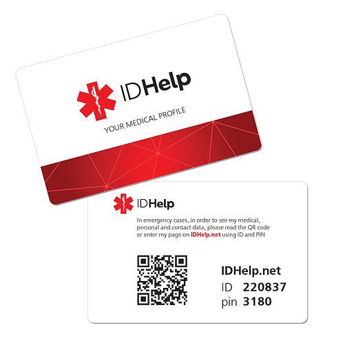 Персональная медицинская ID карточка ENG