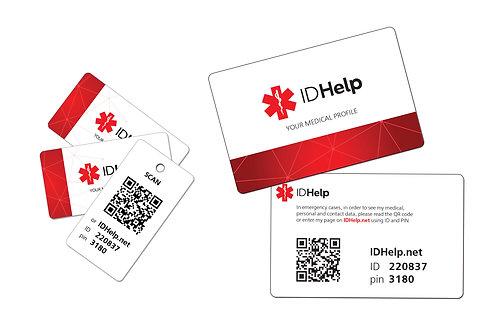 Набор из медицинской карточки и трёх мини-карточек ENG