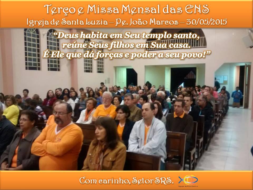 Terço e Missa Mensal de Maio de 2015