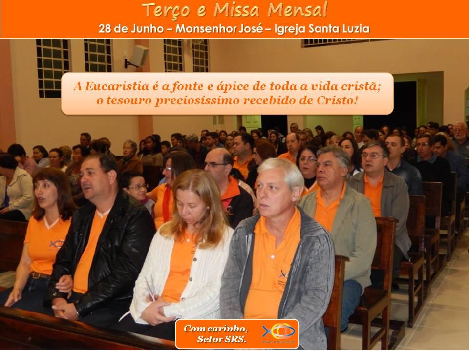 Terço e Missa Mensal de Junho/14