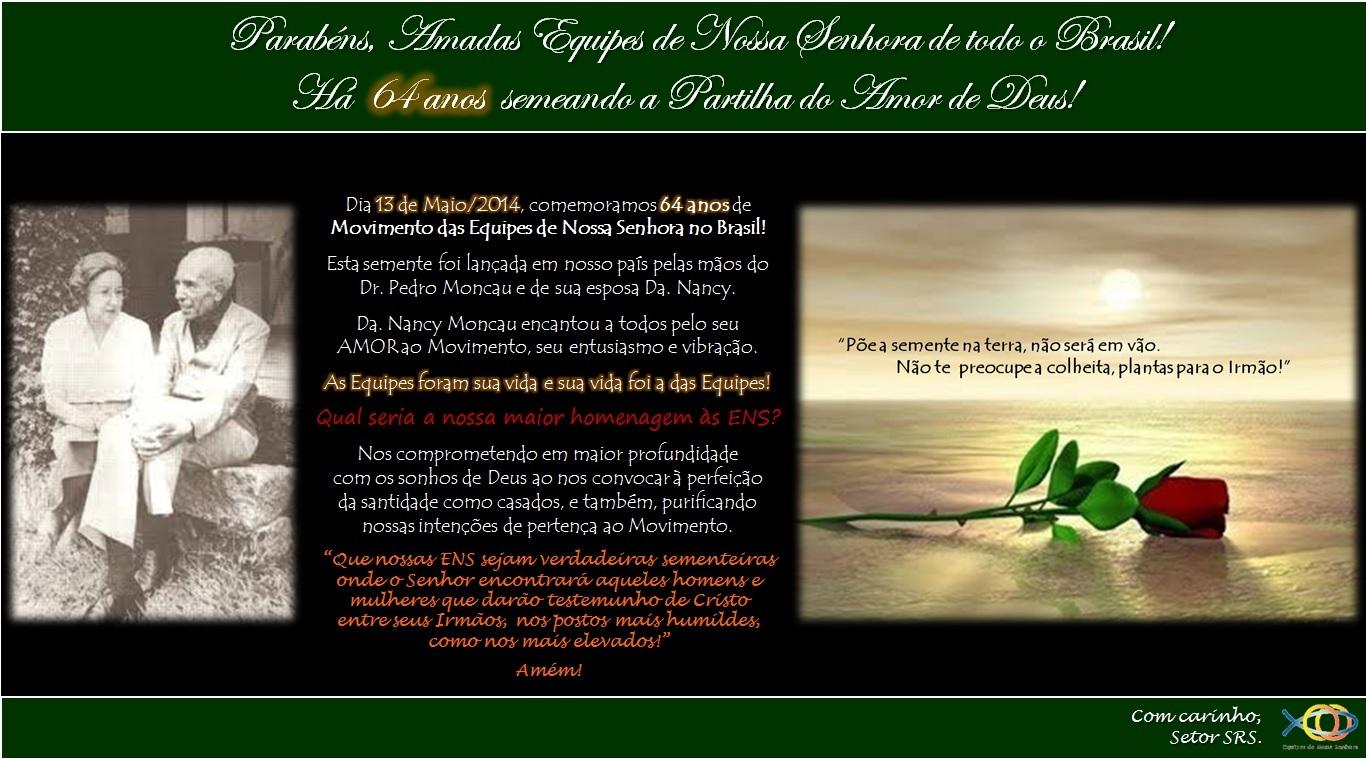 64 anos das ENS no Brasil