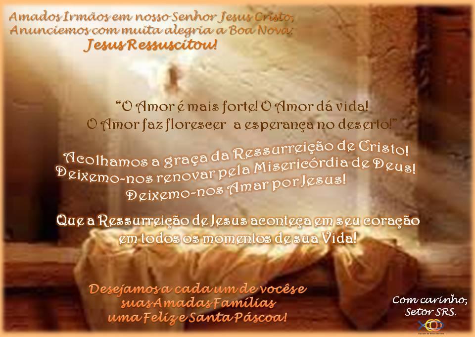 Felicitações de Páscoa