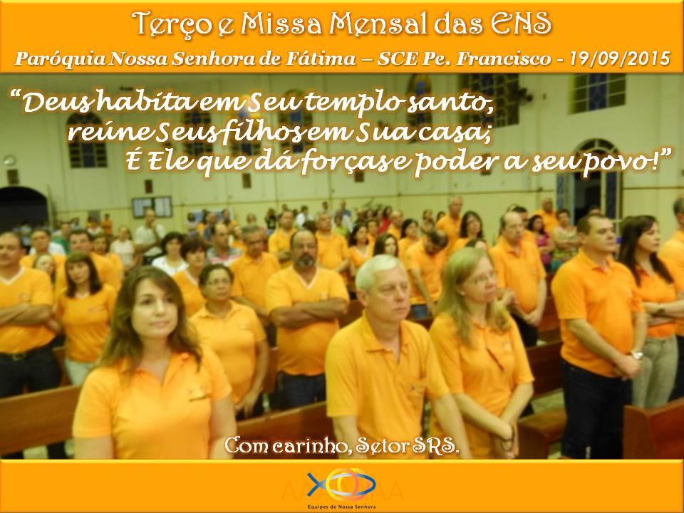 Terço e Missa Mensal Agosto 2015