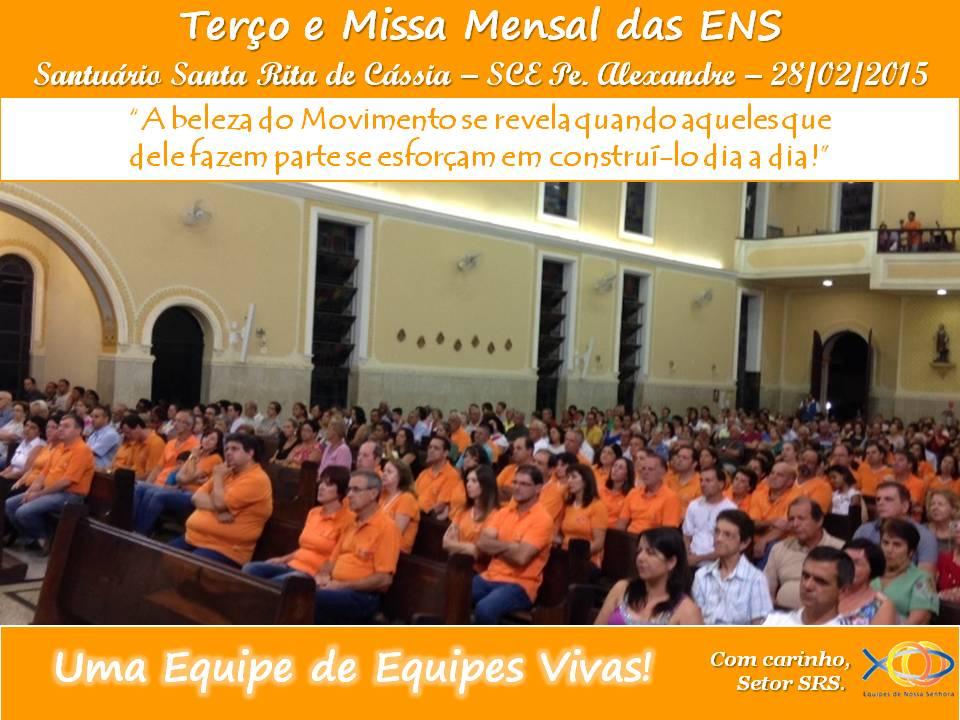 Terço e Missa Mensal Fev/2015