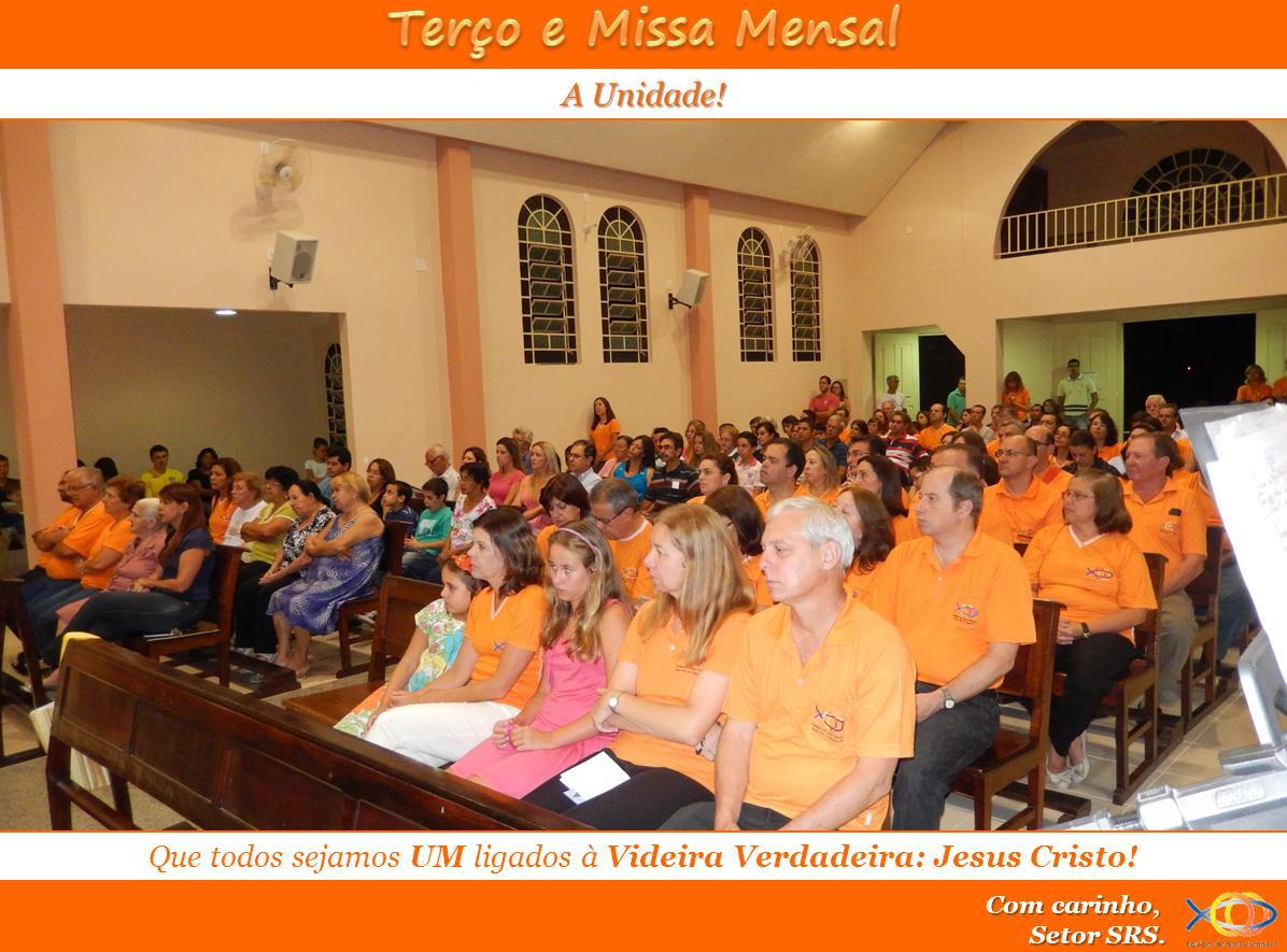 Terço e Missa Mensal - Fev/14