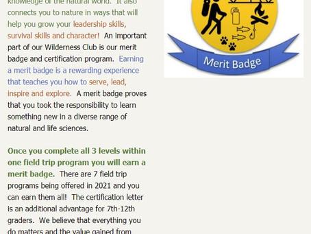 Earn Merit Badge & Certifications for Wilderness Club