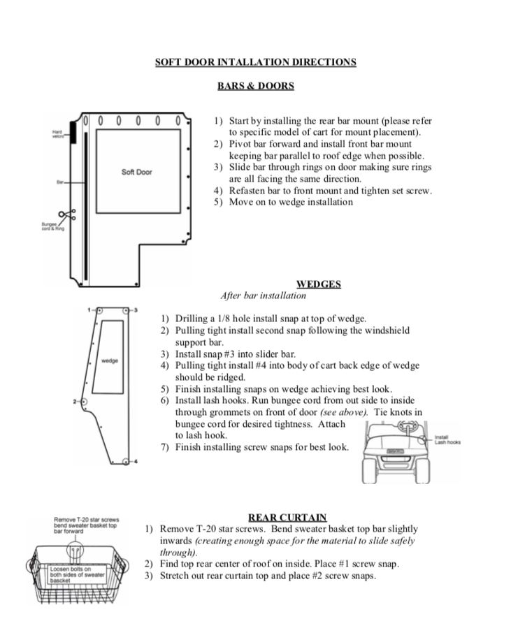 soft door install instructions