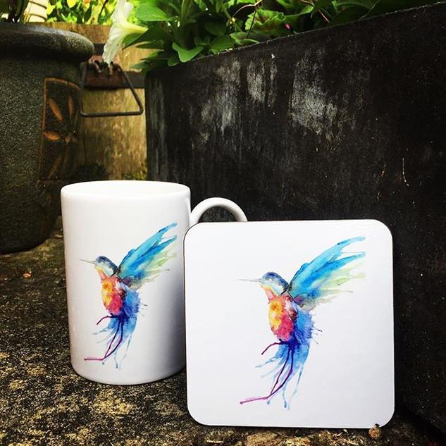 Perfect pair. Mug & coaster matching set