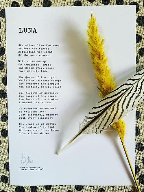 Luna - A4 Print