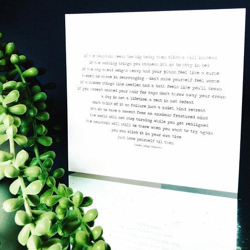 The Mountain - Blank Card