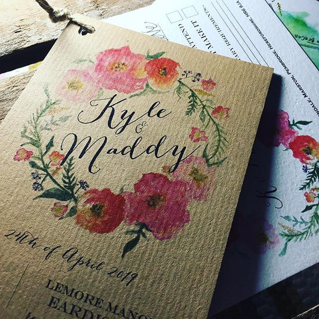 Wedding Stationery designed and created