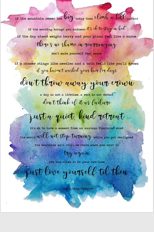 The Mountain Poem by Laura Ding-Edwards - Rainbow Print