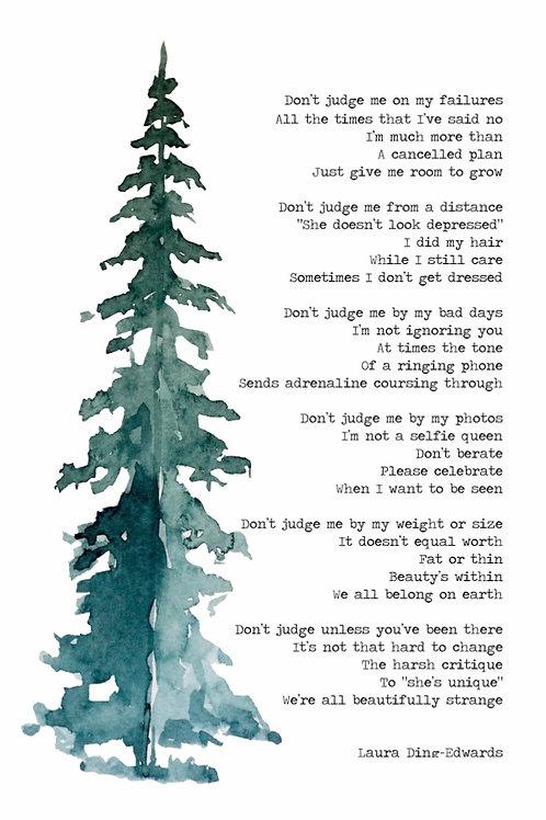 Beautifully Strange Poem Print