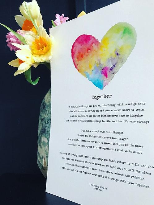 """""""Together"""" A4 Poem Print"""