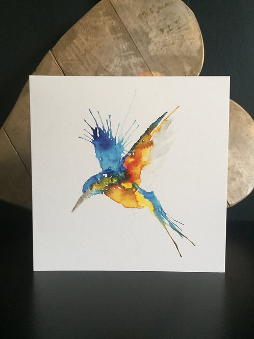 Diving Kingfisher Card
