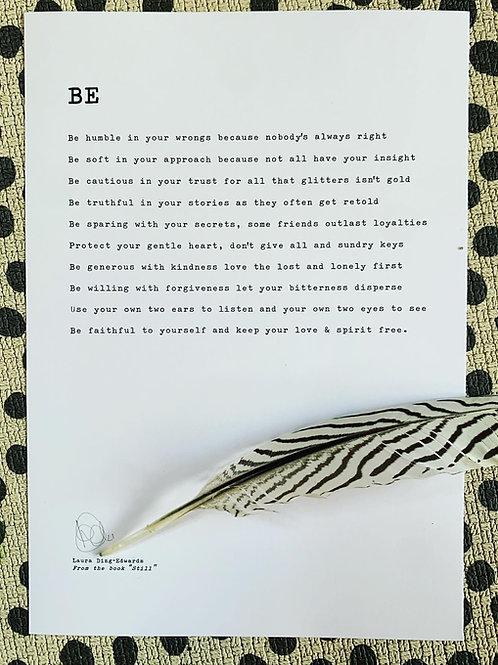 Be - A4 Print