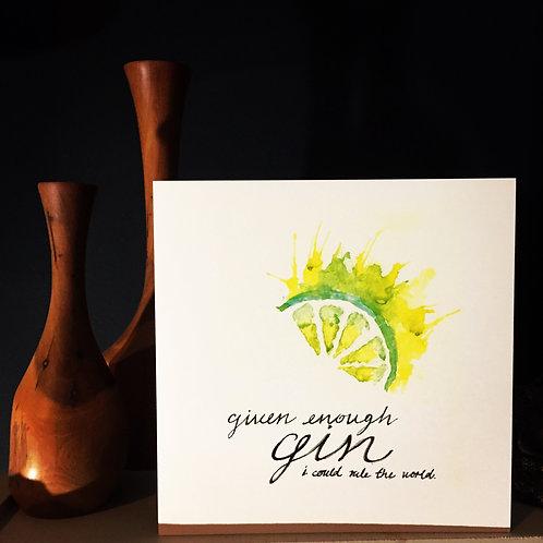 Gin Lover's Card