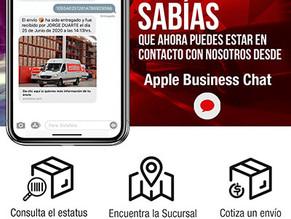 Estafeta amplía sus canales de comunicacióncon Apple Business Chat