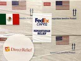 FedEx entrega 1.35 millones de dosis de vacunas en México