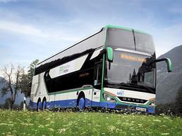 Un viaje a las montañas con autobuses Setra
