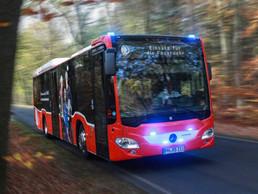 El autobús interurbano de Setra será utilizado como estación de prueba móvil de COVID-19.
