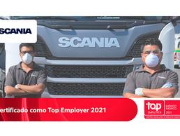 Scania México obtiene certificación Top Employers 2021