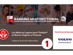 Volvo Financial Services reconocido como uno de los mejores lugares para trabajar