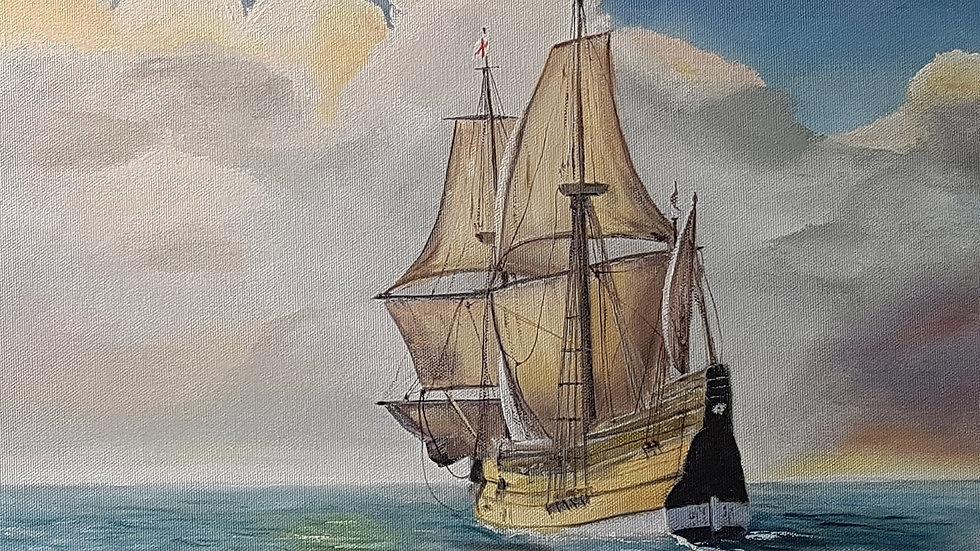 The Mayflower Voyage.