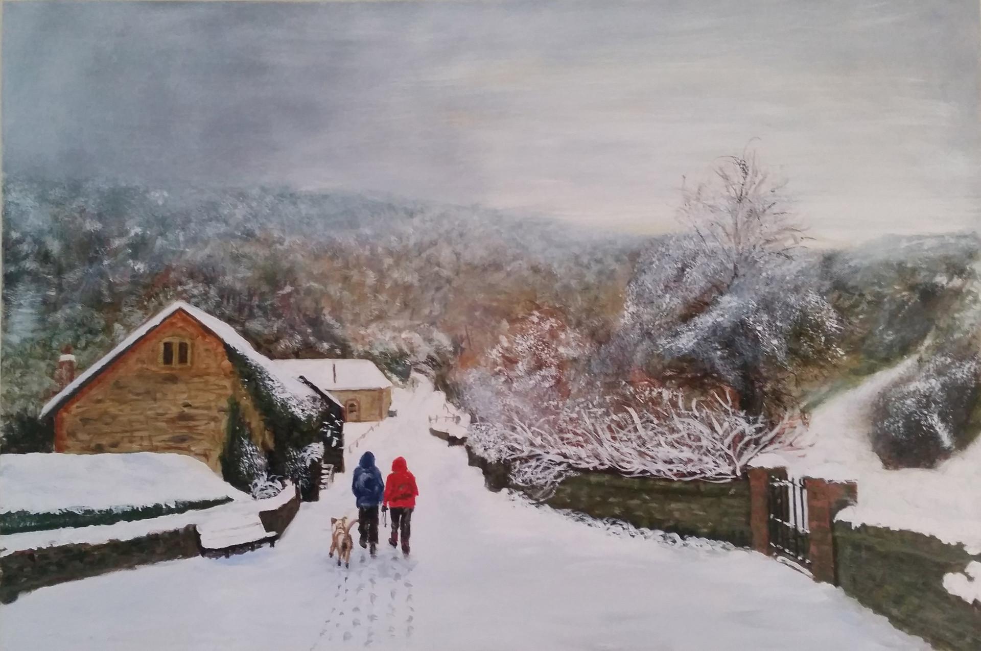 Duncton Mill in Virgin Snow
