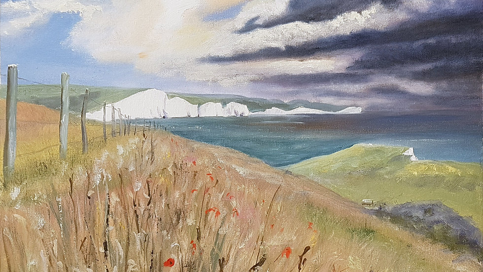 The Seven Sisters coming over from Seaford