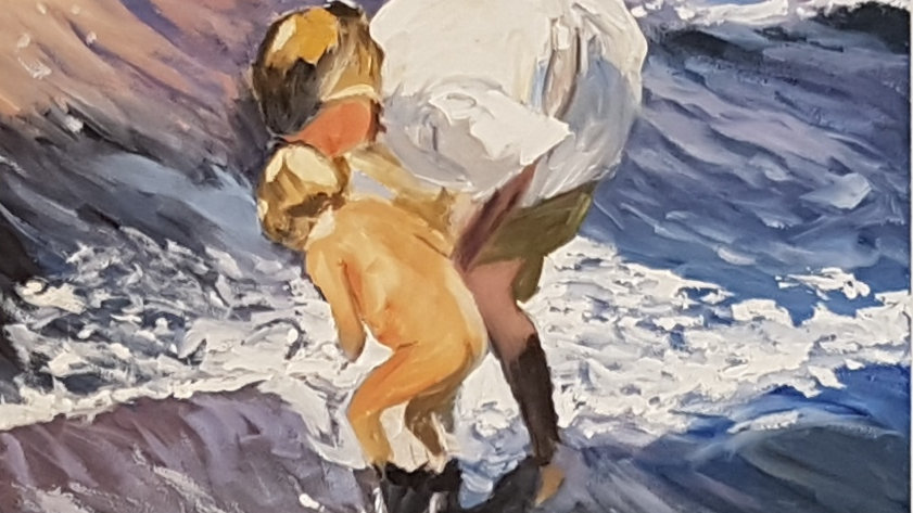 Washing in the Waves - After Sorolla  SOLD