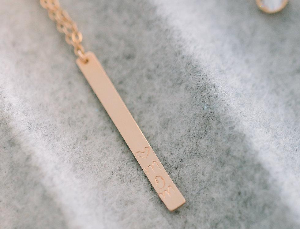 Custom Bar Drop Necklace